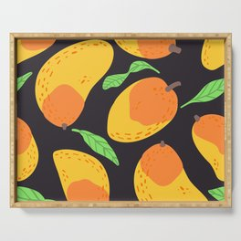 Mango clip art background pattern Serving Tray