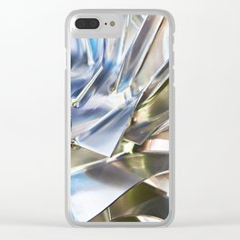 Blades of metal impeller Clear iPhone Case