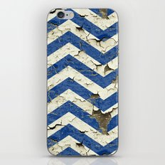 Peeling Chevrons Blue iPhone & iPod Skin