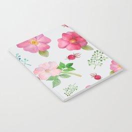 Rosehip Spring Garden Floral Pattern Notebook