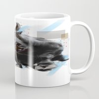 bull Mugs featuring bull by e12art