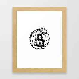 Jesus is a Biscuit! Framed Art Print