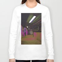 holographic Long Sleeve T-shirts featuring Basement 2 by Ieva Samsina