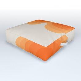 Echoes - Creamsicle Outdoor Floor Cushion