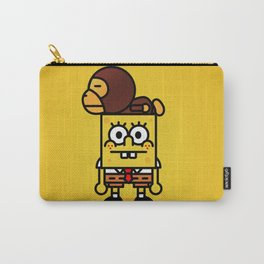 sponge new fun cartoon style sticker iphone cover case wallet bob Carry-All Pouch