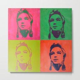 Edie Sedgwick Stencil Metal Print