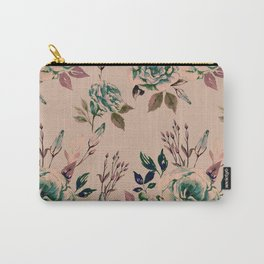 Lisianthus Pattern - Vintage Carry-All Pouch