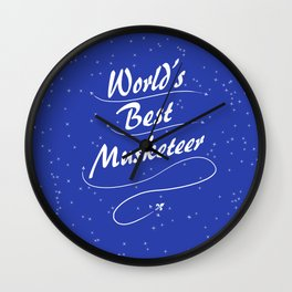 World's Best Musketeer Wall Clock