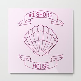 #1 Shore House in Pink Metal Print