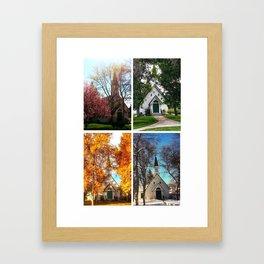 Four Seasons at the Poker Church Framed Art Print