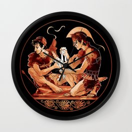 Achilles & Patroclus red figure Wall Clock