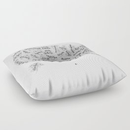 United States of Hand Lettering Floor Pillow