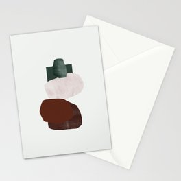 Green square Stationery Cards