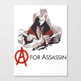 A for Assassin Canvas Print