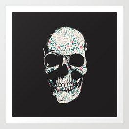 B-Skull Art Print