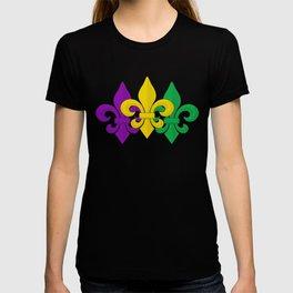 Mardi Gras Fleur-de-Lis Pattern T-Shirt