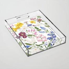 Spring Flowers Acrylic Tray