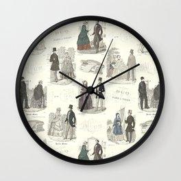 Biedermeier Fashion Wall Clock