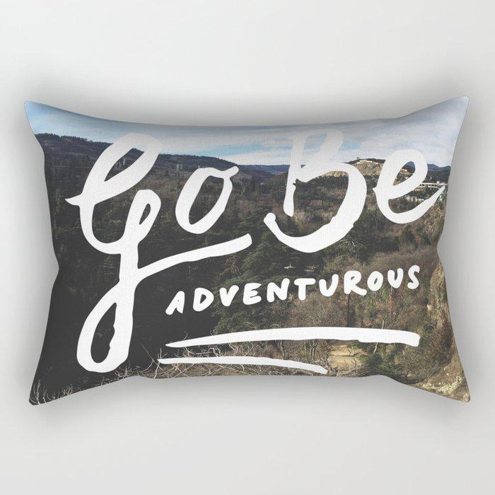 Adventurous // #TravelSeries Rectangular Pillow