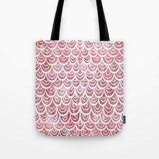 Watercolor Mermaid Rosy Garnet Tote Bag