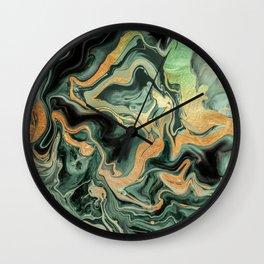 DRAMAQUEEN GOLD EMERALD by Monika Strigel Wall Clock