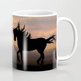 Wild Horses Silhouette Coffee Mug
