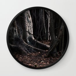 Spooky Winter Trees Wall Clock