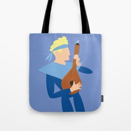 Apollo the music boy and the bird Tote Bag