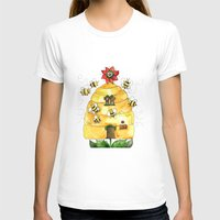 bees T-shirts featuring Busy Bees by Shelley Ylst Art