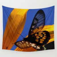 transparent Wall Tapestries featuring Transparent Butterfly by Donuts