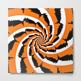 Tiger Stripe Fractal Metal Print