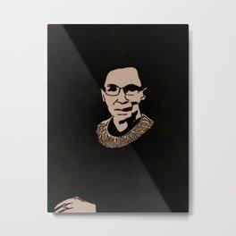 Ruth Bader Ginsburg Tribute Metal Print