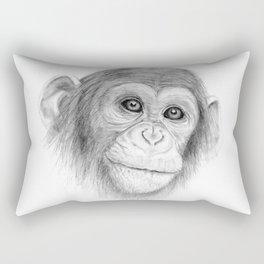 A Chimpanzee :: Not Monkeying Around Rectangular Pillow