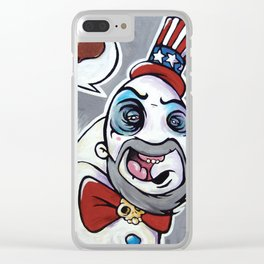 Howdy Folks, Capt Spaulding, Devils Rejects, House of 1,000 Courpses, Sid Haig Clear iPhone Case
