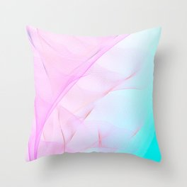 Pastel Motion Vibes - Pink & Turquoise #abstractart #homedecor Throw Pillow