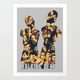 The Walking Dead – All Characters – Homage to the AMC TWD show  Art Print