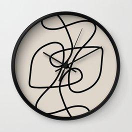 Modern Line Art Wall Clock