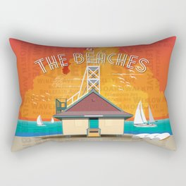 The Beaches Rectangular Pillow
