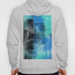 Abstract Blue Azur Hoody