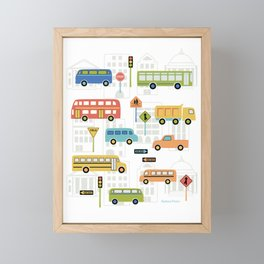 Bus Stop Framed Mini Art Print