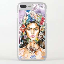 A summer girl #3 Clear iPhone Case