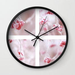 Red Berries Quadro Wall Clock