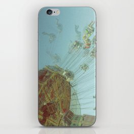 Fair in Motion: Swing Chairs iPhone Skin
