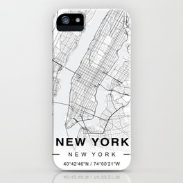 New York Map iPhone Case