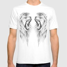 Lions White Mens Fitted Tee MEDIUM