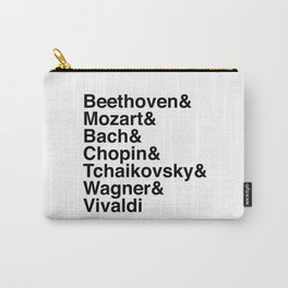Helvetica Composers Carry-All Pouch
