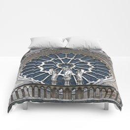 Rose window Comforters