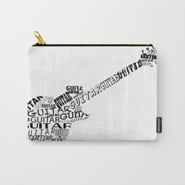 Guitar In Text Carry-All Pouch