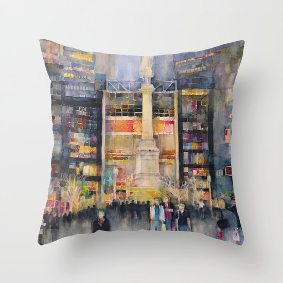 Time Warner Building, New York City Throw Pillow