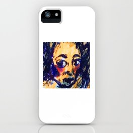 Red Cheeks Woman iPhone Case